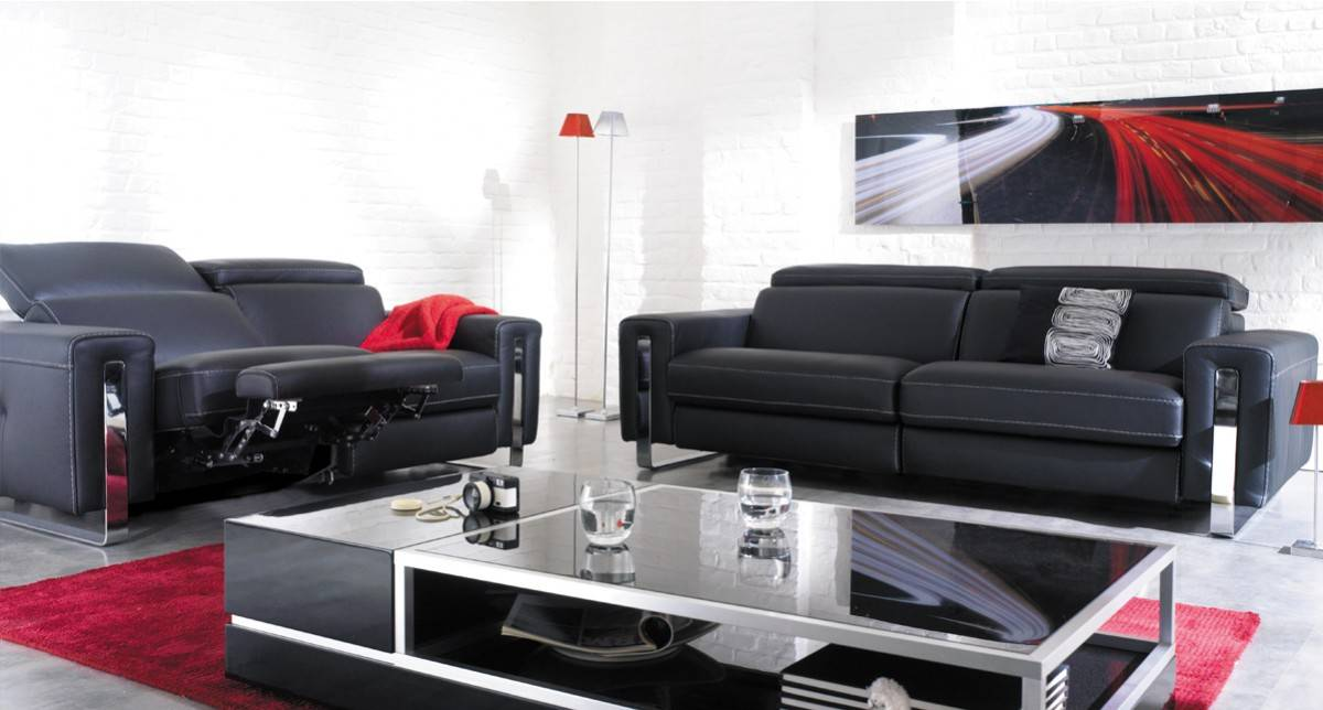 Canap relax 25 places 2 t ti res relevables relaxo for Site de mobilier design