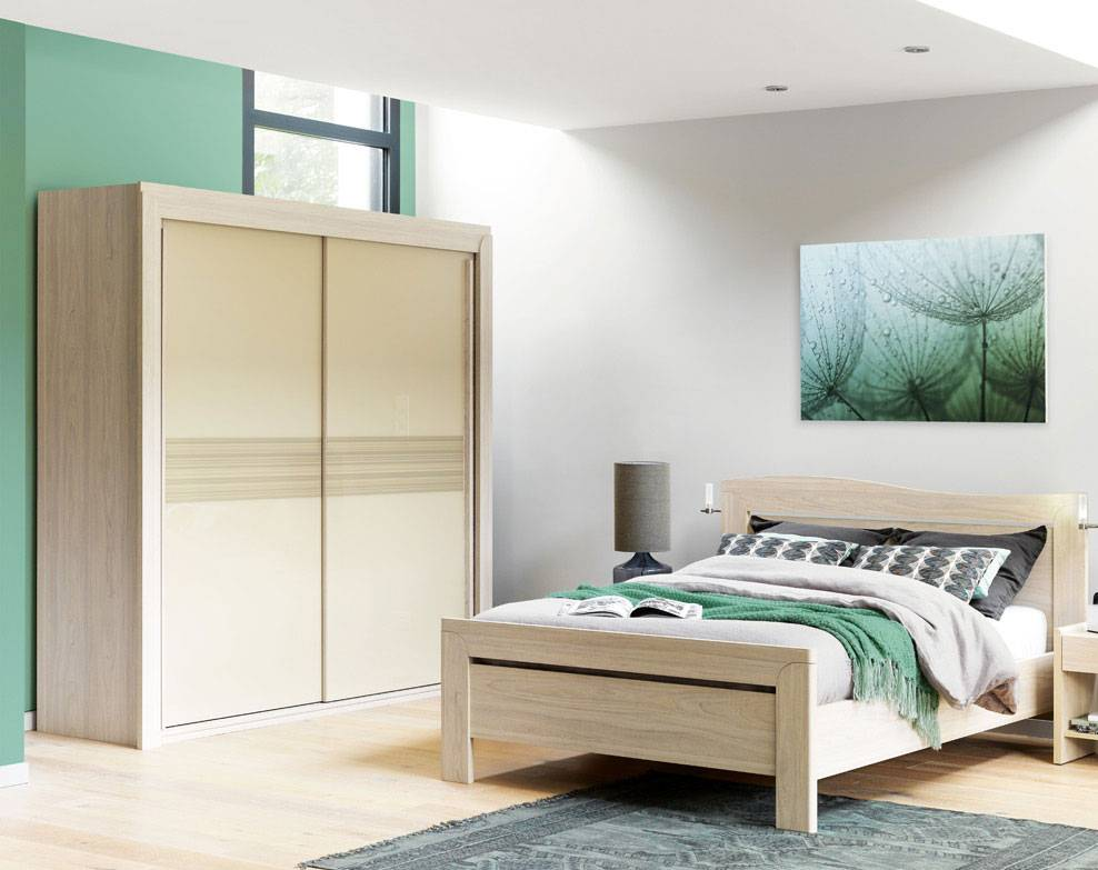 grande armoire portes coulissantes c lio pour chambre coucher cosy marseille la valentine. Black Bedroom Furniture Sets. Home Design Ideas