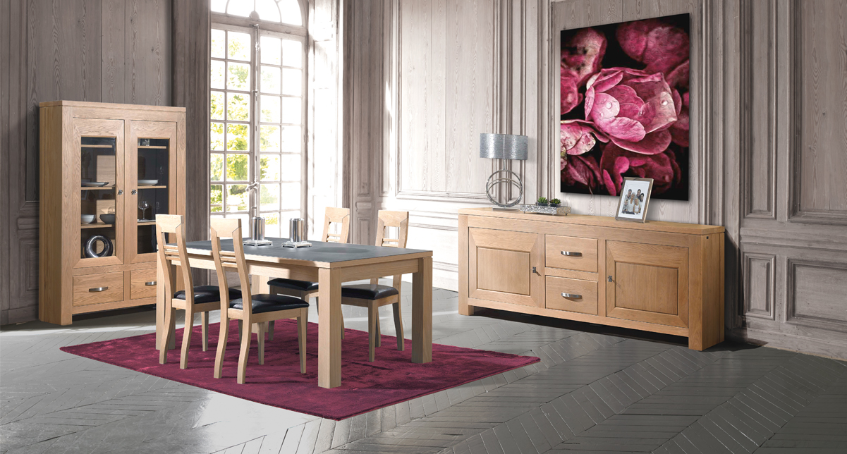 table manger rectangulaire ch ne massif marseille la valentine 13011 mobilier de france. Black Bedroom Furniture Sets. Home Design Ideas
